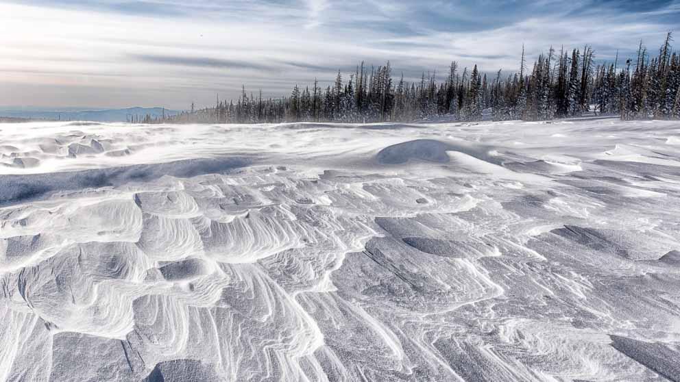 Snow Blown Mountain Fields by Mark Ruckman