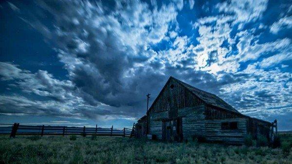 Radiance - Barn in Moonlight by Mark Ruckman