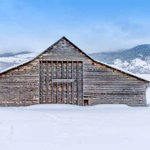 Barn in winter shows its Aged Beauty by Mark Ruckman