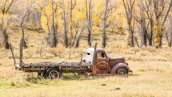 Old Truck in a Field from Days Gone Bye by Mark Ruckman