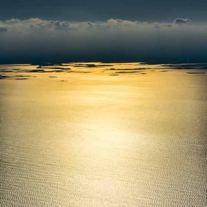 Boston Harbor shows Golden Tranquility by Mark Ruckman
