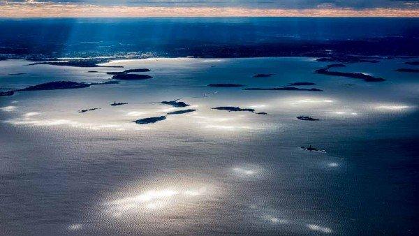 Boston Harbor Spotlights by Mark Ruckman