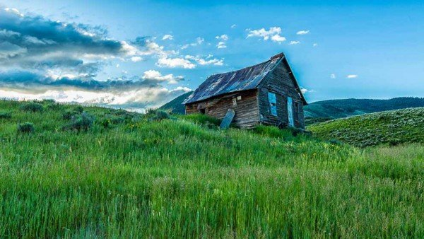 Abandon Homestead in field by Mark Ruckman