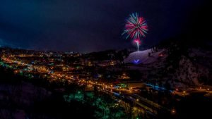 Fireworks of Steamboat Springs Winter Carnival by Mark Ruckman