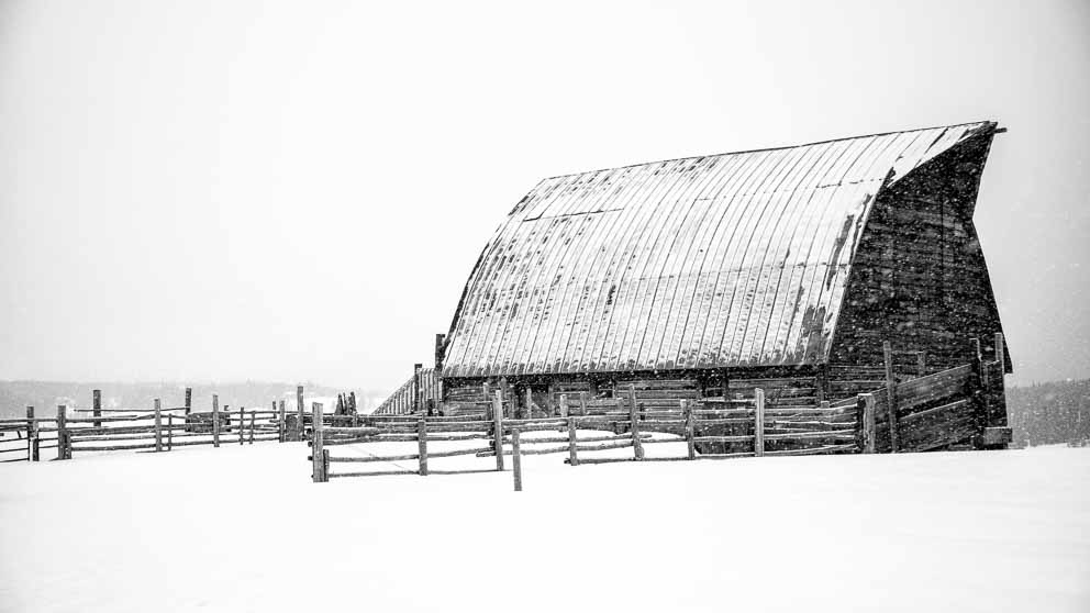 Old Barn in Winter Solace by Mark Ruckman