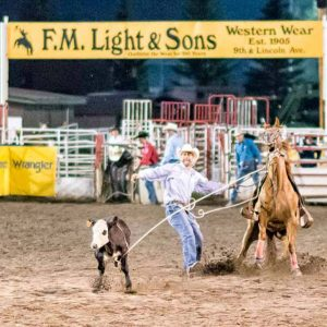 Calf Roping in Steamboat Springs by Mark Ruckman