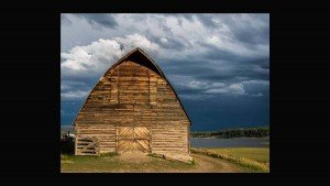 An old Barn in the light before the storm by Mark Ruckman